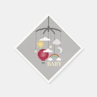 Servetter för baby shower för glödhet luftballong