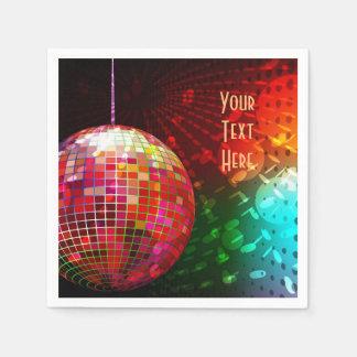 Servetter för boll för disko för diskonatt70-tal