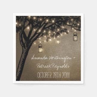 Servetter för bröllop för träd för Oak för