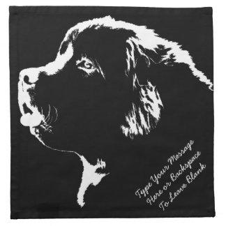 Servetter för hund för personlig för Newfoundland