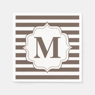 Servetter för Monogram för beigerandpersonlig