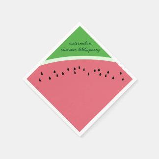 Servetter för party för vattenmelonsommarBBQ