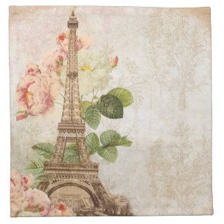 Servetter för romantiker för Paris rosa rosvintage