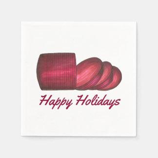 Servetter för sås för glad helgjulCranberry
