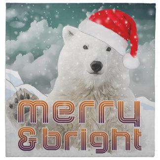 Servetter för trasa för jul för Santa polara björn