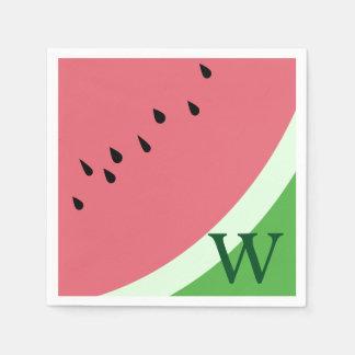 Servetter för vattenmelonMonogrampapper