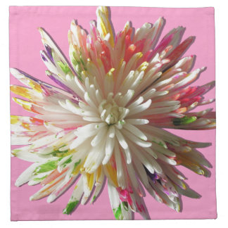 Servetter - trasa - målad vitspindelmorsa