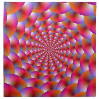 Servettspiral av Spheres i rosor och Violet Tygservett