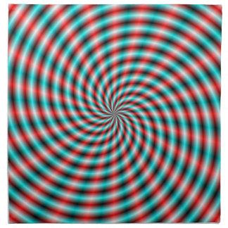 Servettturkos och röda spirala strålar tygservett