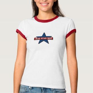 Service för familj för blåttstjärnamamma militär t shirts
