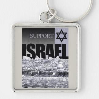 Service Israel Fyrkantig Silverfärgad Nyckelring