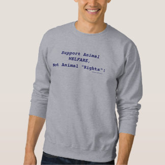 """Servicedjurskydd, inte djur """"rättigheter""""! långärmad tröja"""