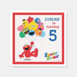 Sesamgata | Elmo och Pals - födelsedagballonger Pappersservetter