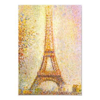Seurat Eiffel torninbjudningar 8,9 X 12,7 Cm Inbjudningskort