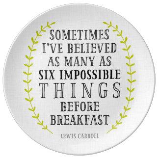 Sex omöjliga tallrikar för
