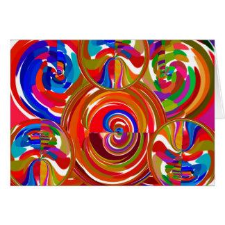 Sex Sigma cirklar - tallrikar V8 för Reiki Hälsningskort