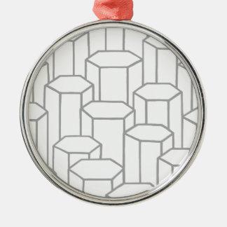 Sexhörniga kolonner julgransprydnad metall