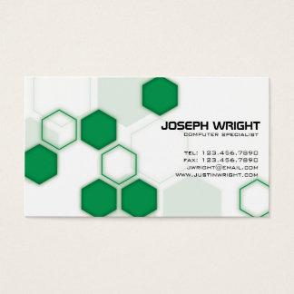 Sexhörningar - grönt visitkort