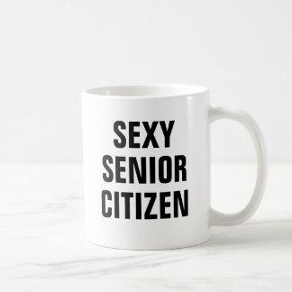Sexig pensionär kaffemugg