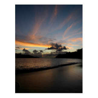 Seychelle ösolnedgång vykort