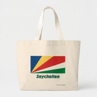 Seychellen Flagge mit Namen Tygkassar