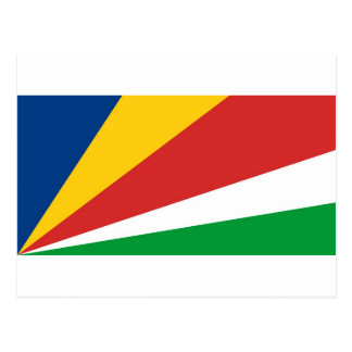 Seychellerna flagga vykort