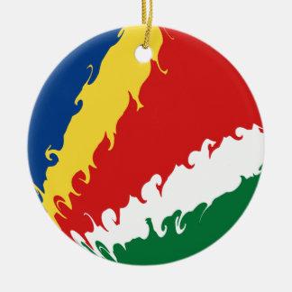 Seychellerna Gnarly flagga Juldekoration