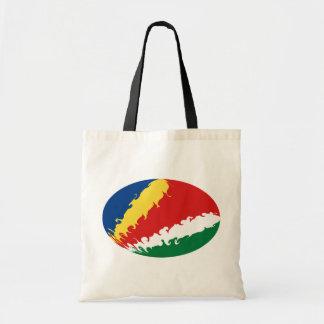Seychellerna hänger lös den Gnarly flagga Kassar