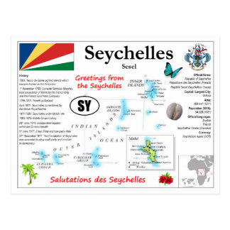 Seychellerna kartavykort vykort