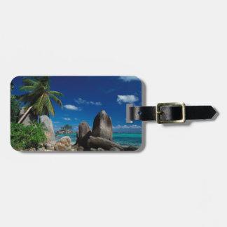 Seychellerna Mahe ö, Anse Royale Beach. Bagagebricka