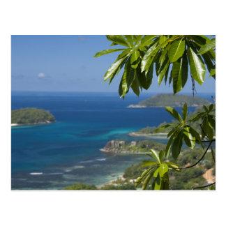 Seychellerna ö av Mahe. Western kusten av Vykort