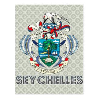 Seychellerna vapensköld vykort