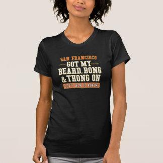 """SF-baseball """"skägg, Bong & thongen på"""" T-tröja Tshirts"""