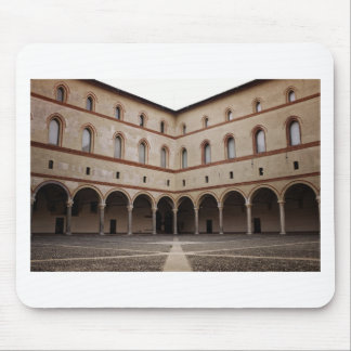 Sforza slott (Castello Sforzesco) i Milan, italien Musmatta