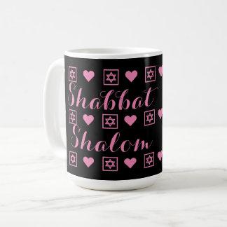 Shabbat Shalom sabbat Kaffemugg