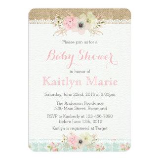 Shabby chicbaby showerinbjudan 12,7 x 17,8 cm inbjudningskort