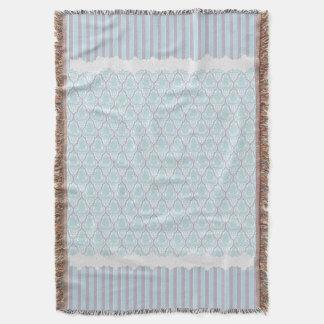 Shabby chicblått & liladamast filt