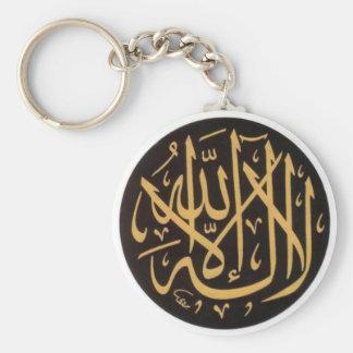 Shahadah B/G Keychain Rund Nyckelring