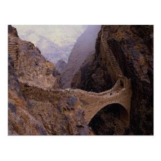 Shahara överbryggar, 9000 ft. svalg Yemen Vykort