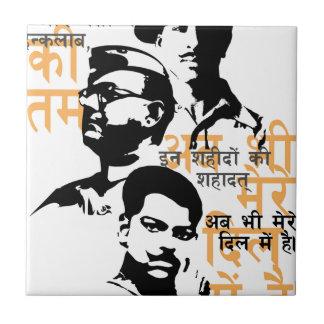 Shaheed de indiska martyr kakelplatta