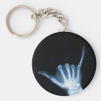 Shaka undertecknar röntgar (den lösa hängningen) rund nyckelring