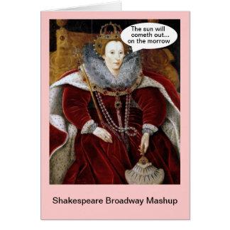 Shakespeare Broadway Mashup - Annie Hälsningskort