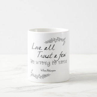 Shakespeare citationstecken kaffemugg