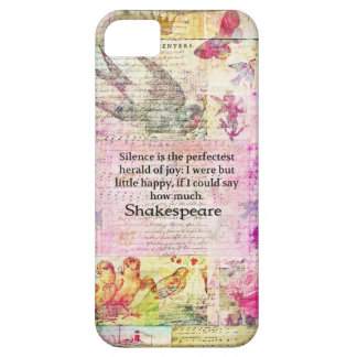 Shakespeare citationstecken om GLÄDJE och TYSTNAD iPhone 5 Case-Mate Skydd