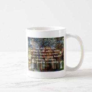 Shakespeare citationstecken om liv vit mugg