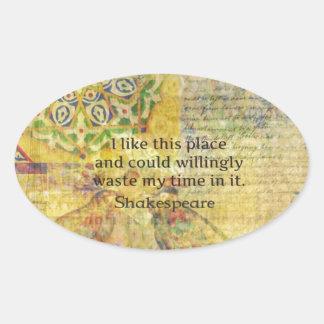 """Shakespeare det roliga citationstecknet """"gillar ovalt klistermärke"""