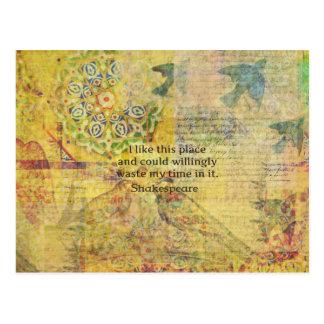 """Shakespeare det roliga citationstecknet """"gillar vykort"""
