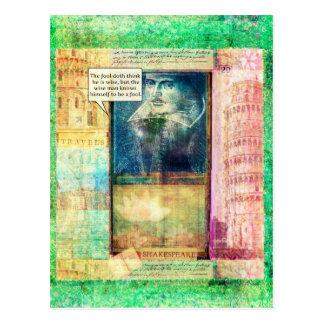 Shakespeare humoristiskt vishetcitationstecken vykort