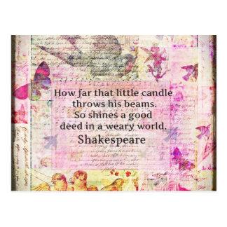 Shakespeare inspirera citationstecken om bra vykort