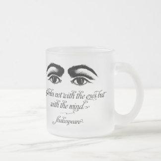 Shakespeare kärlek ser inte med ögon frostad glasmugg